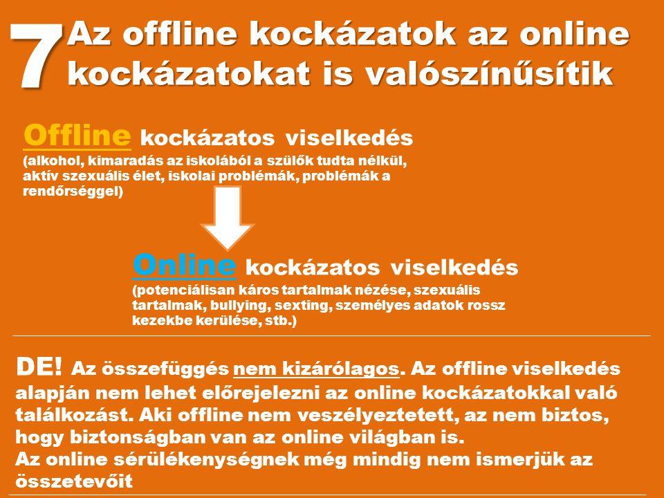 7 Az offline kockázatok az online kockázatokat is valószínűsítik