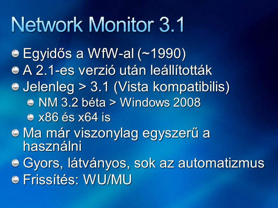 Network Monitor 3.1 Egyidős a WfW-al (~1990)