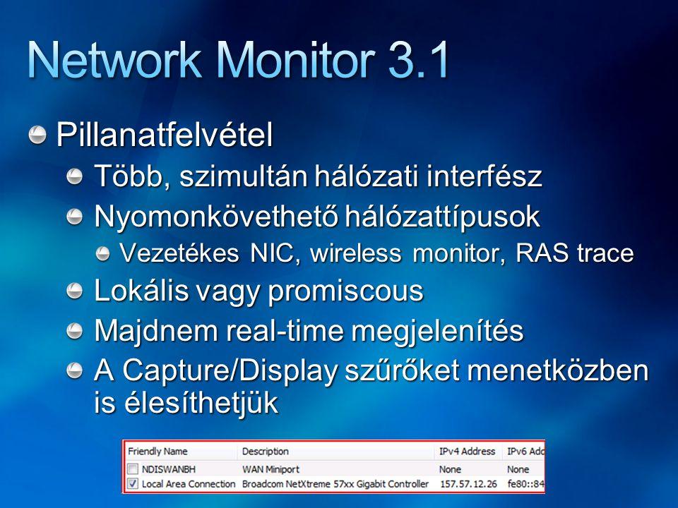 Network Monitor 3.1 Pillanatfelvétel