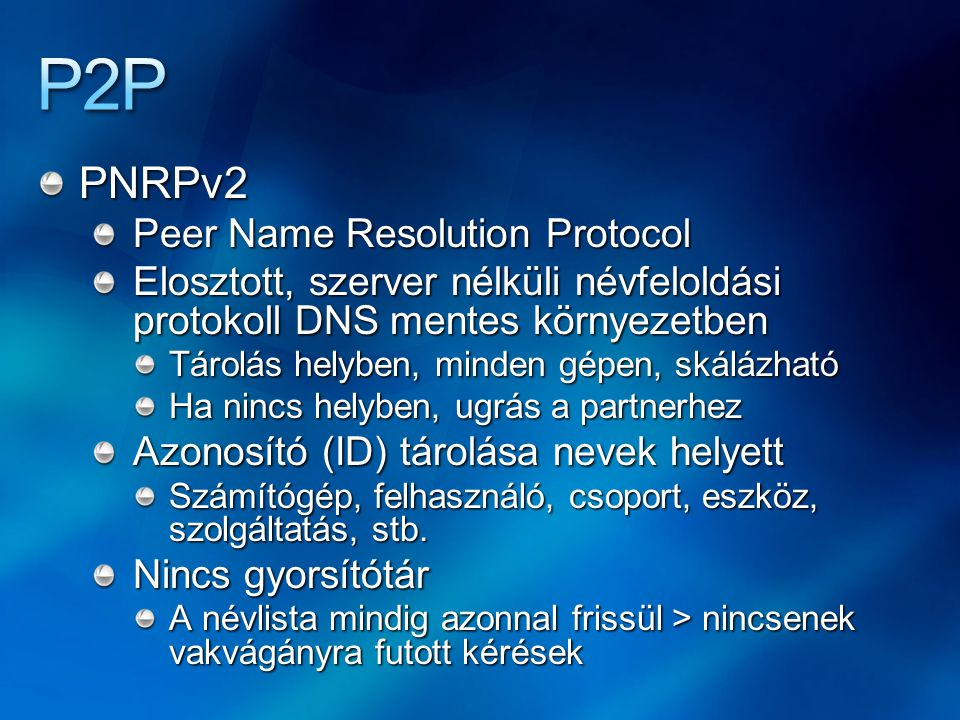 P2P PNRPv2 Peer Name Resolution Protocol