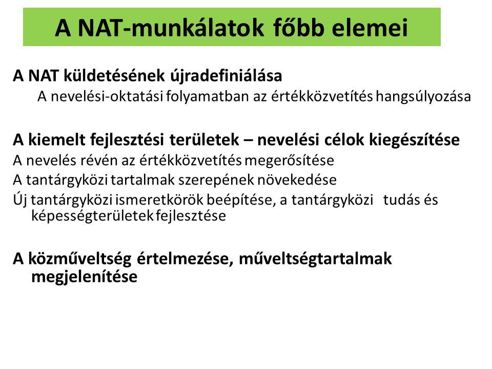 A NAT-munkálatok főbb elemei