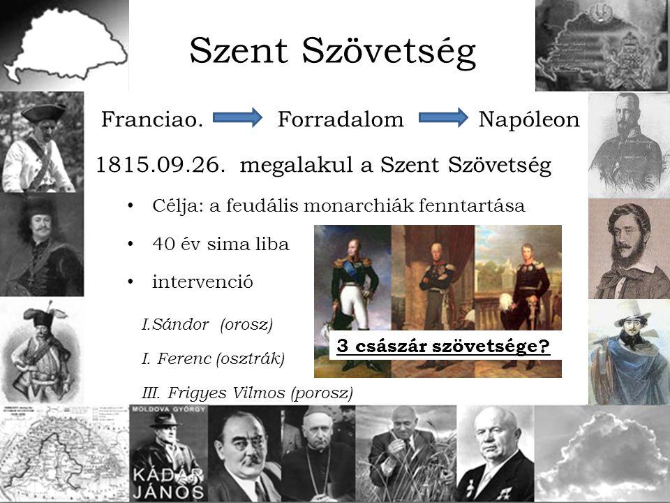 Szent Szövetség Franciao. Forradalom Napóleon
