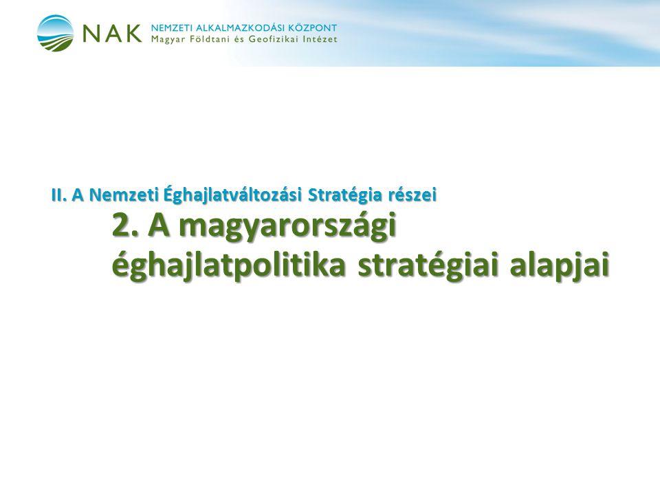 II. A Nemzeti Éghajlatváltozási Stratégia részei 2