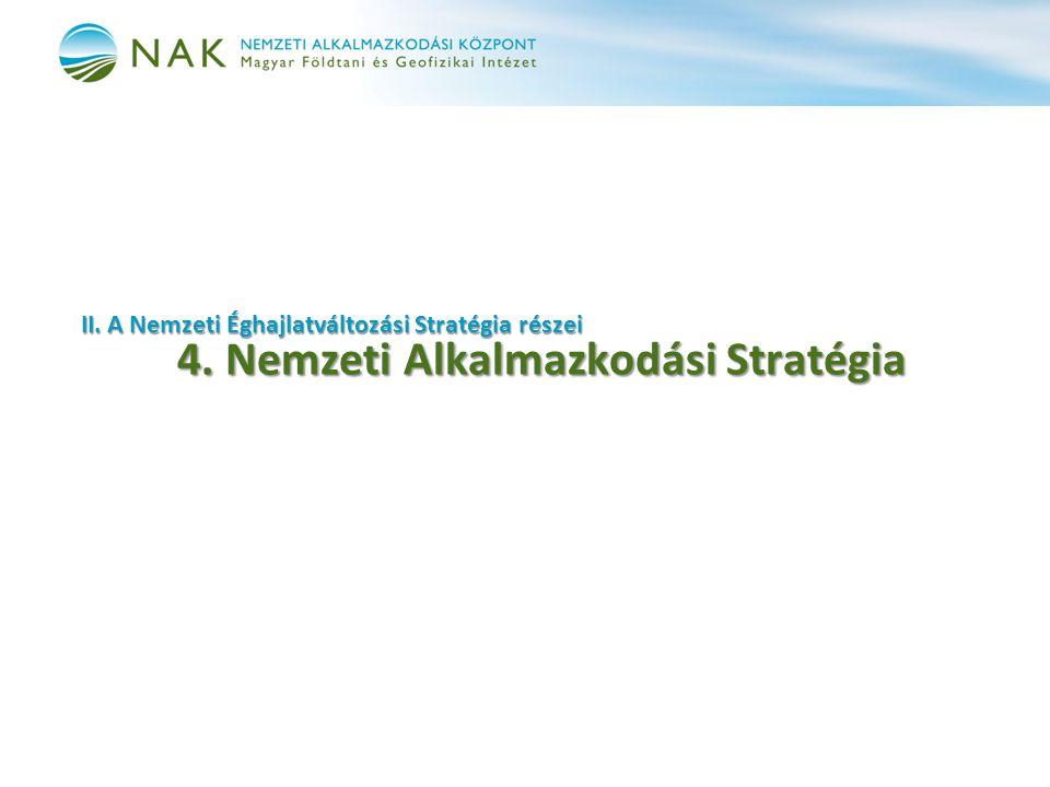 II. A Nemzeti Éghajlatváltozási Stratégia részei 4