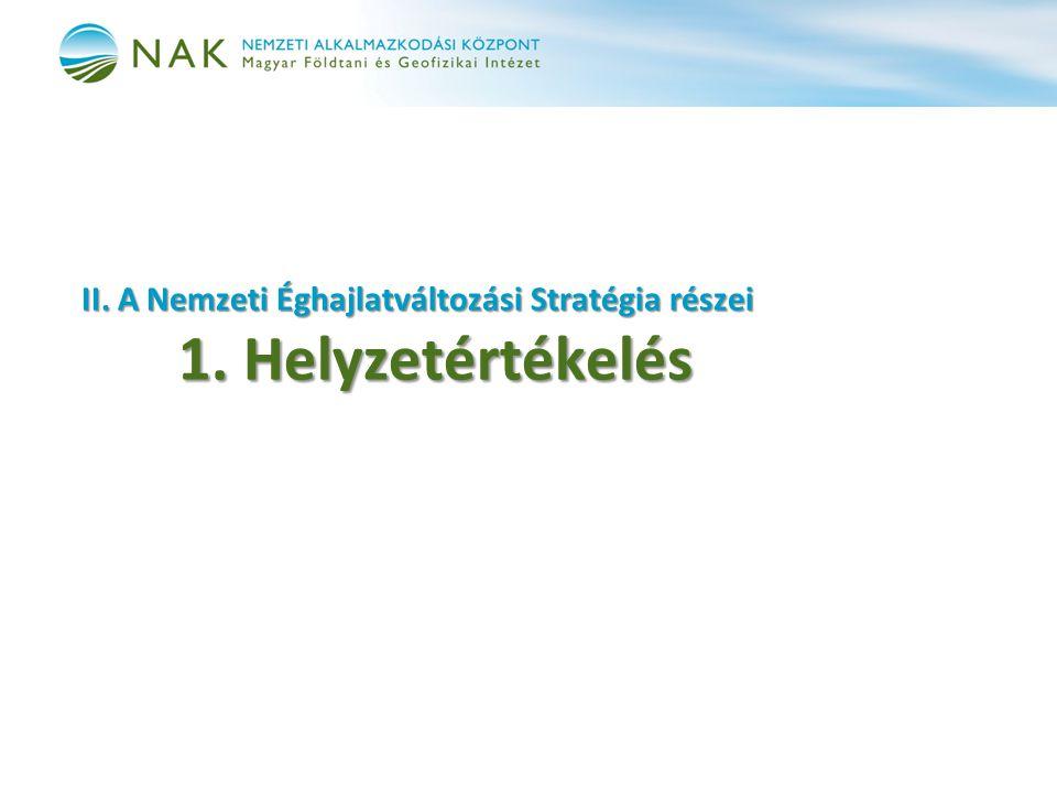 II. A Nemzeti Éghajlatváltozási Stratégia részei 1. Helyzetértékelés
