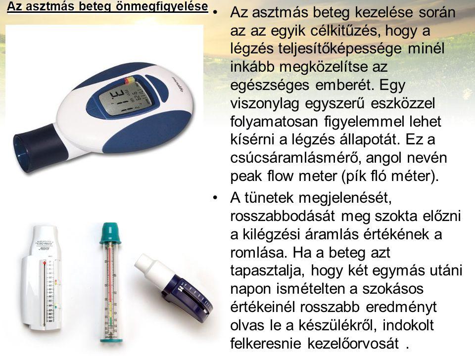Az asztmás beteg önmegfigyelése