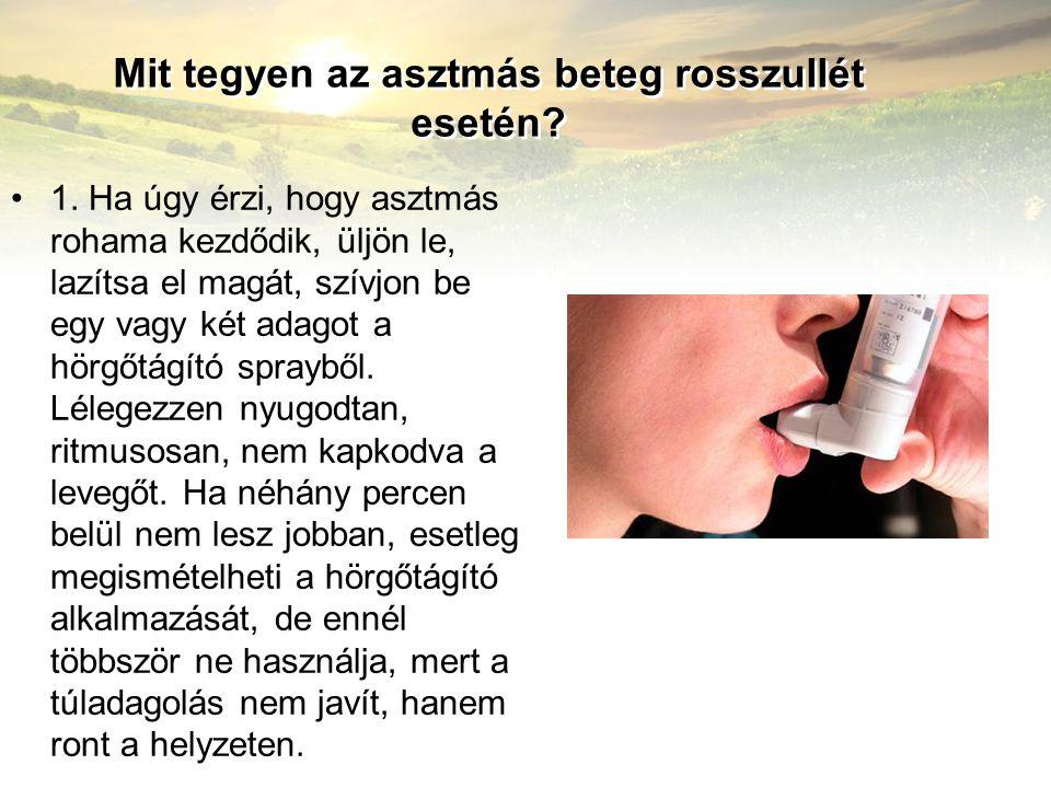 Mit tegyen az asztmás beteg rosszullét esetén
