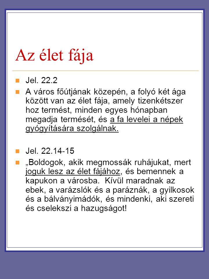 Az élet fája Jel. 22.2.