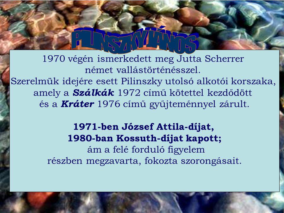 1971-ben József Attila-díjat, 1980-ban Kossuth-díjat kapott;