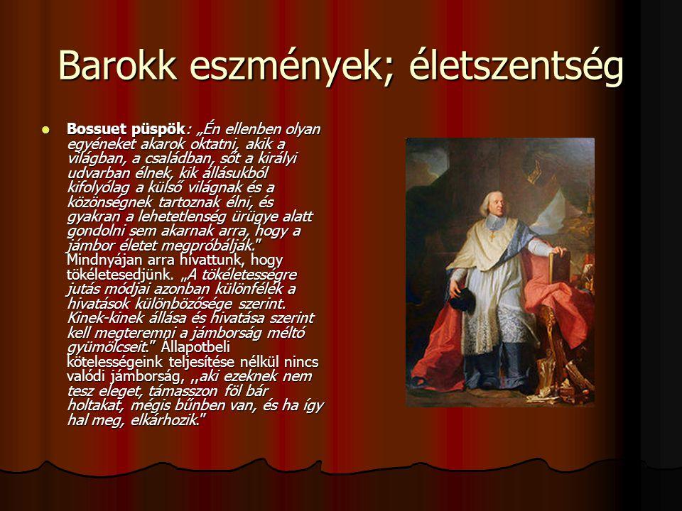 Barokk eszmények; életszentség