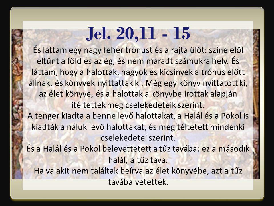 Jel. 20,11 - 15
