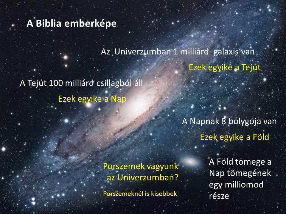 A Biblia emberképe Az Univerzumban 1 milliárd galaxis van