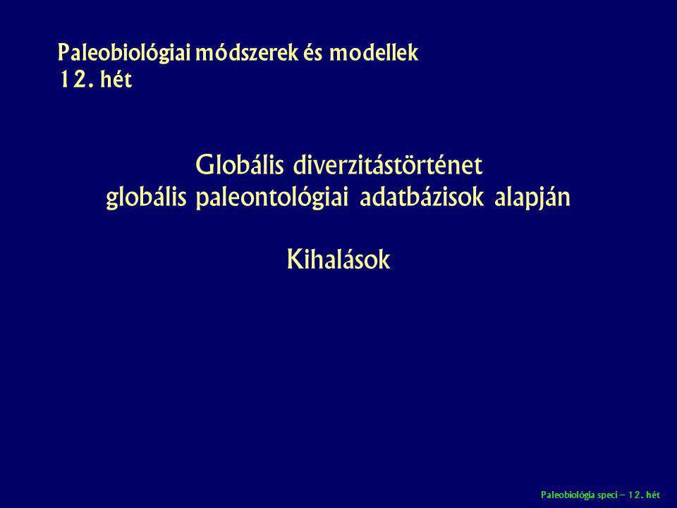 Paleobiológiai módszerek és modellek 12. hét