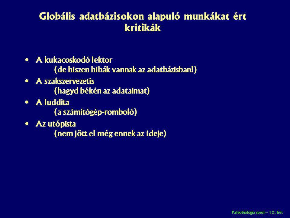 Globális adatbázisokon alapuló munkákat ért kritikák