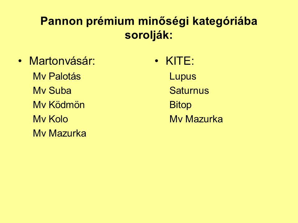 Pannon prémium minőségi kategóriába sorolják:
