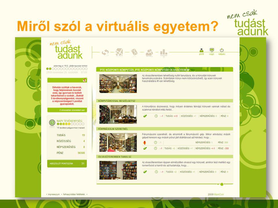 Miről szól a virtuális egyetem