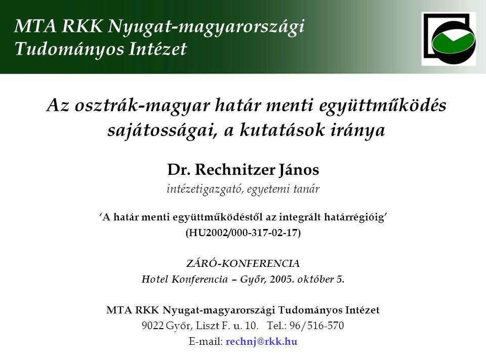 MTA RKK Nyugat-magyarországi Tudományos Intézet