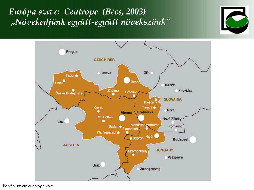 """Európa szíve: Centrope (Bécs, 2003) """"Növekedjünk együtt-együtt növekszünk"""