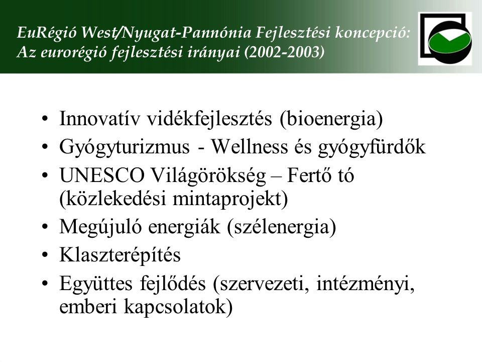Innovatív vidékfejlesztés (bioenergia)