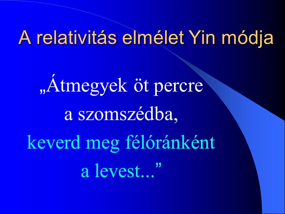 A relativitás elmélet Yin módja