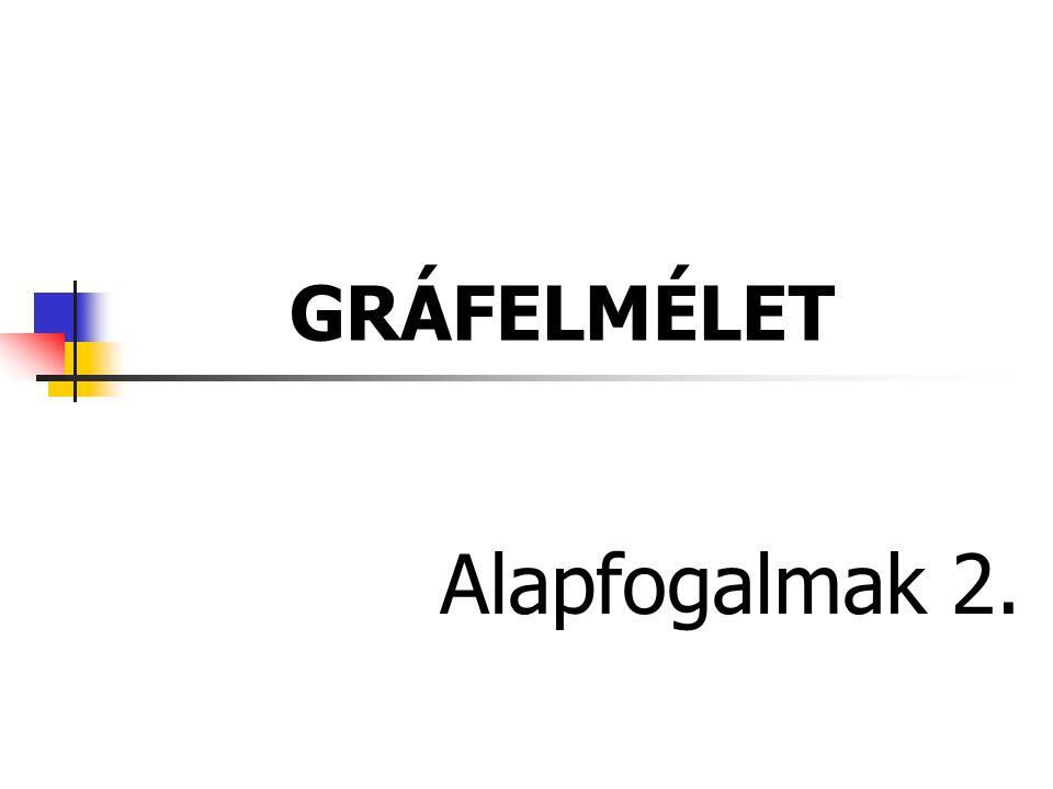 GRÁFELMÉLET Alapfogalmak 2.