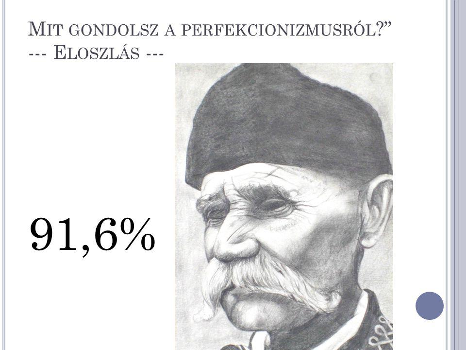 Mit gondolsz a perfekcionizmusról --- Eloszlás ---