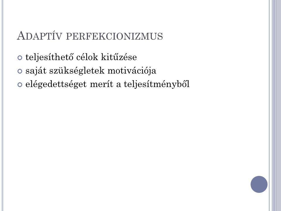 Adaptív perfekcionizmus