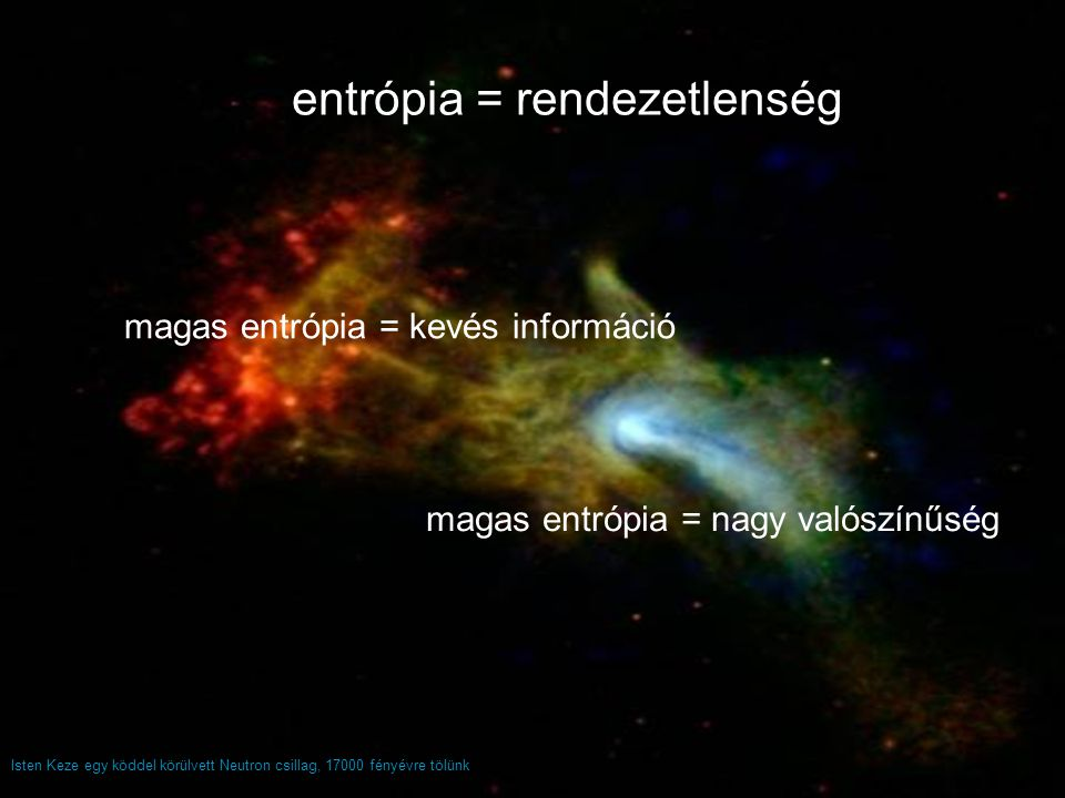 entrópia = rendezetlenség