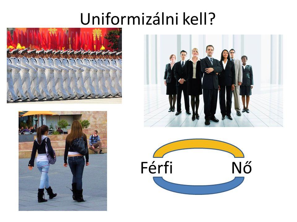 Uniformizálni kell Férfi Nő