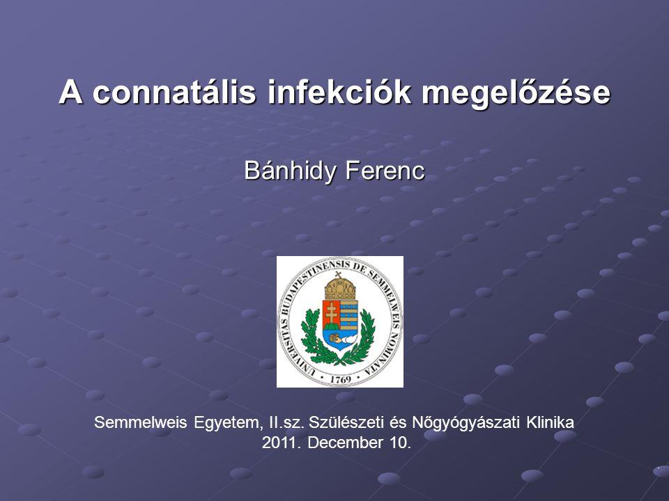 A connatális infekciók megelőzése