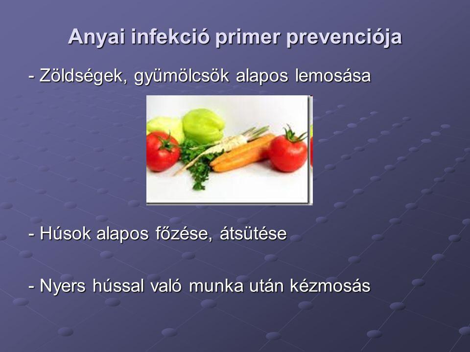 Anyai infekció primer prevenciója