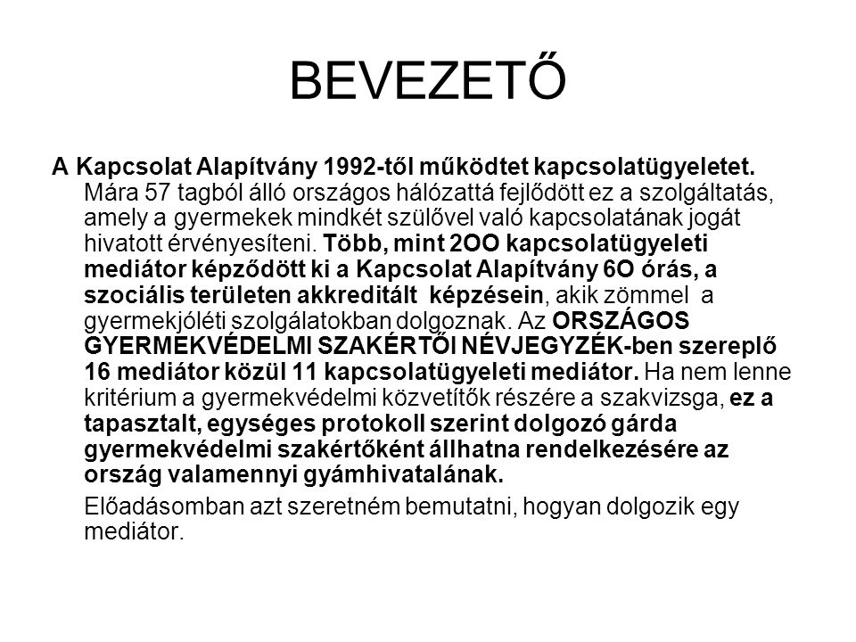 BEVEZETŐ