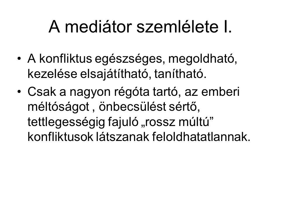 A mediátor szemlélete I.