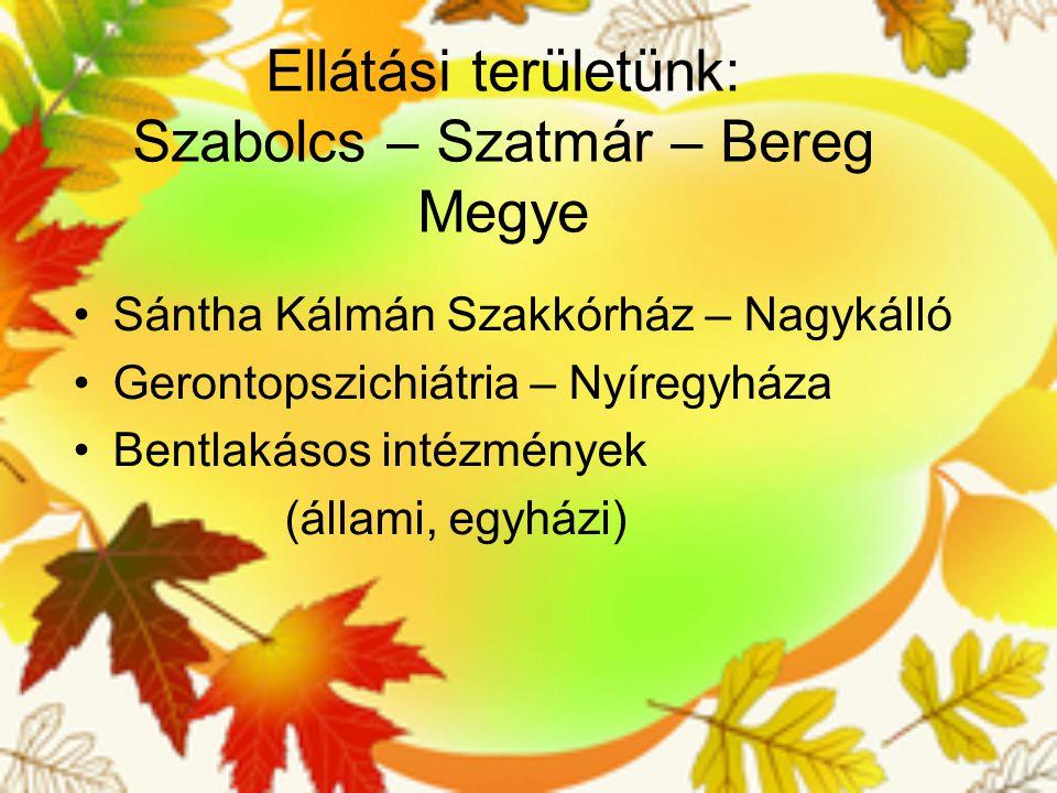 Ellátási területünk: Szabolcs – Szatmár – Bereg Megye