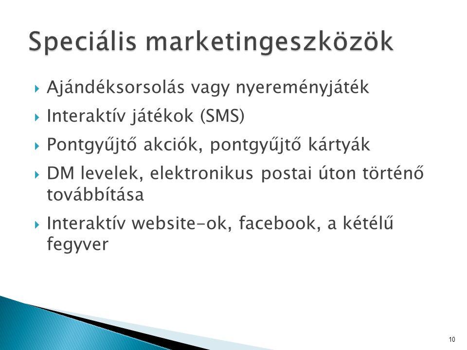 Speciális marketingeszközök