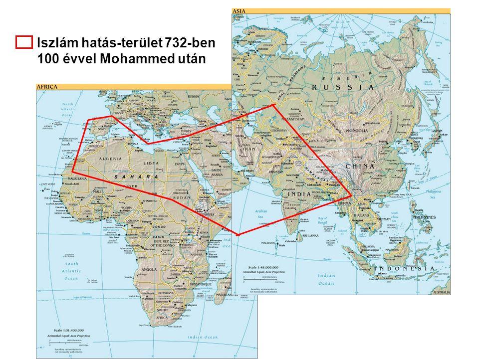 Iszlám hatás-terület 732-ben