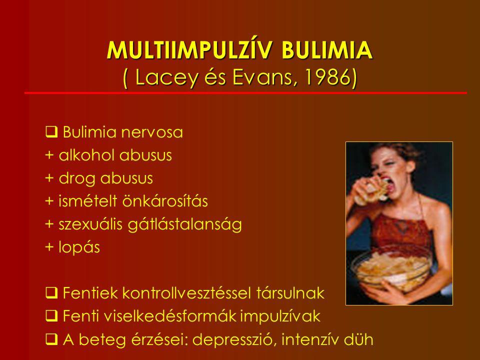 MULTIIMPULZÍV BULIMIA ( Lacey és Evans, 1986)
