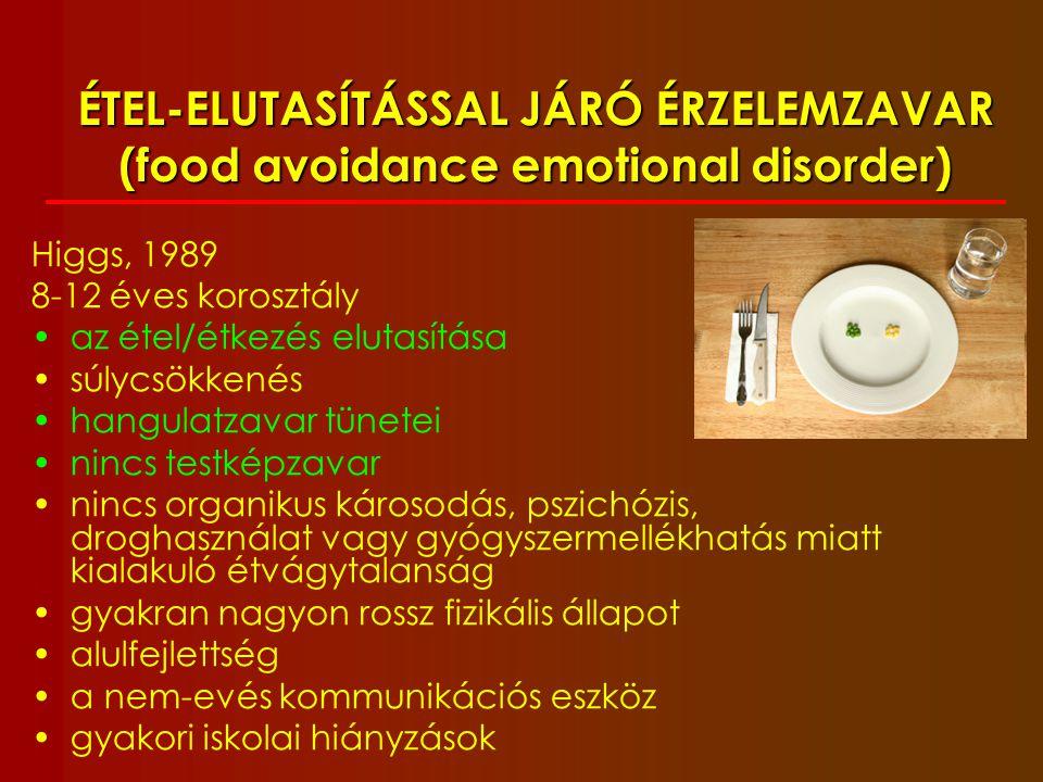 ÉTEL-ELUTASÍTÁSSAL JÁRÓ ÉRZELEMZAVAR (food avoidance emotional disorder)