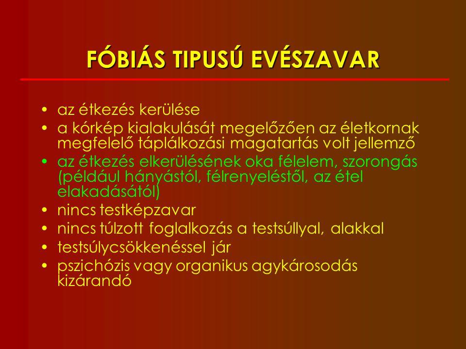 FÓBIÁS TIPUSÚ EVÉSZAVAR