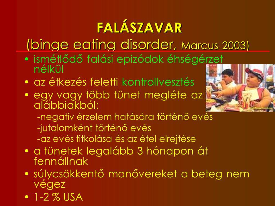 FALÁSZAVAR (binge eating disorder, Marcus 2003)