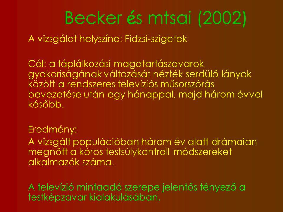 Becker és mtsai (2002) A vizsgálat helyszíne: Fidzsi-szigetek