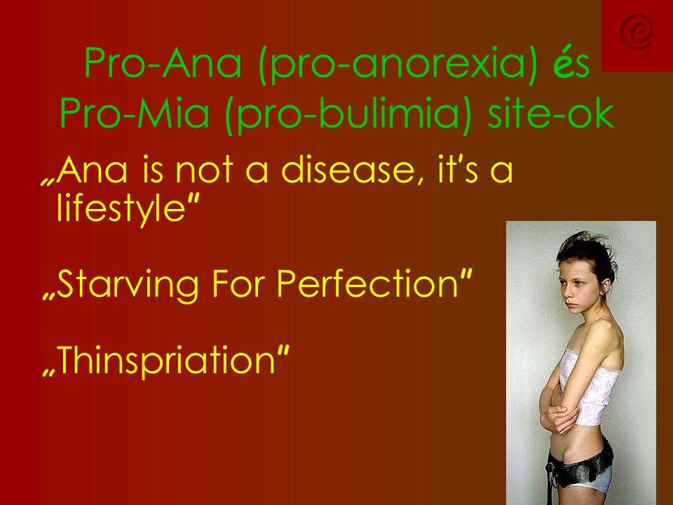 Pro-Ana (pro-anorexia) és Pro-Mia (pro-bulimia) site-ok