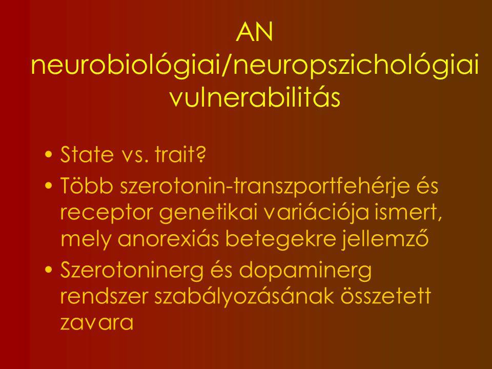 AN neurobiológiai/neuropszichológiai vulnerabilitás