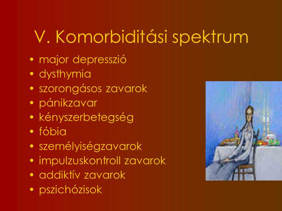 V. Komorbiditási spektrum