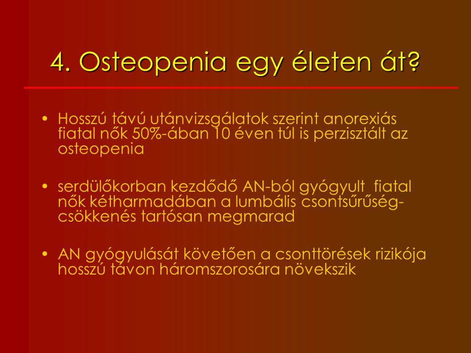 4. Osteopenia egy életen át