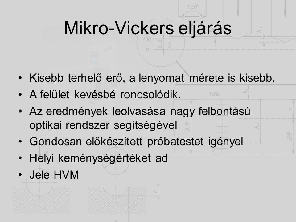 Mikro-Vickers eljárás