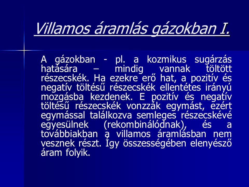 Villamos áramlás gázokban I.