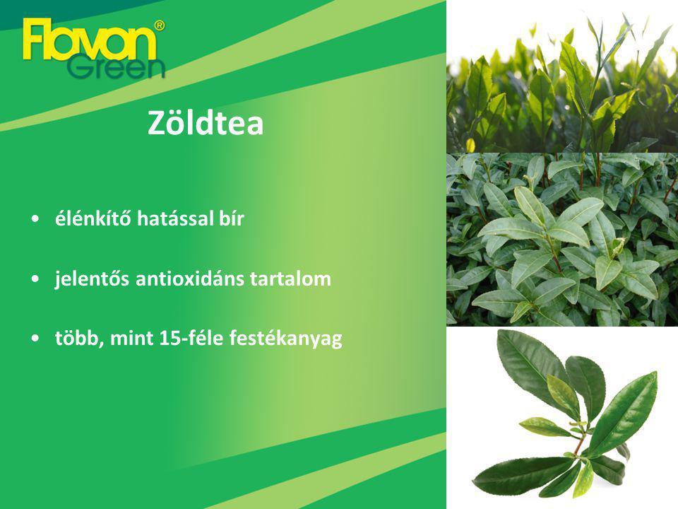 Zöldtea élénkítő hatással bír jelentős antioxidáns tartalom