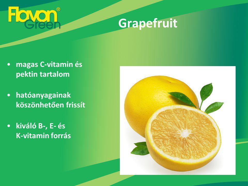 Grapefruit magas C-vitamin és pektin tartalom