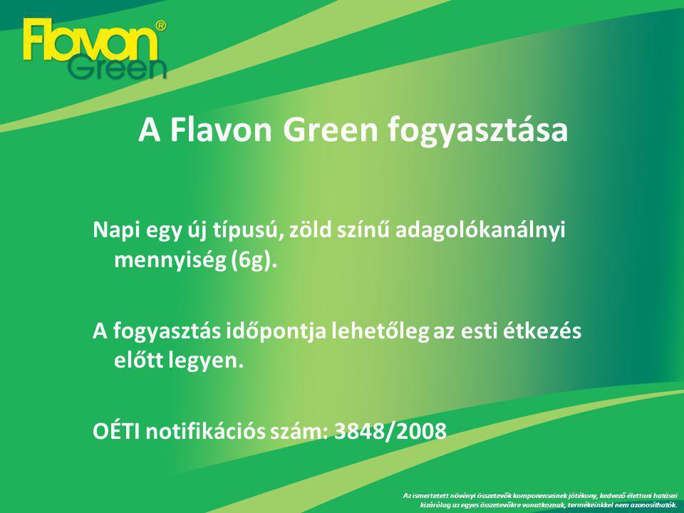 A Flavon Green fogyasztása